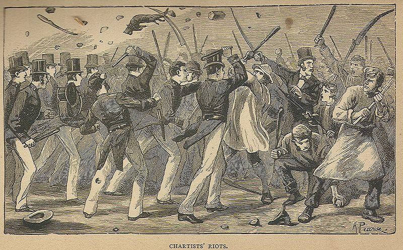 Depiction of Chartist Uprising