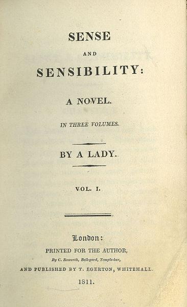 Sense and Sensibility title page