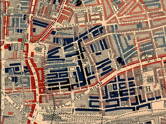 Poverty map of Old Nichol slum